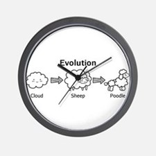 Funny evolution of cloud into sheep and poodle Wal