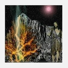 Moses And The Burning Bush Tile Coaster