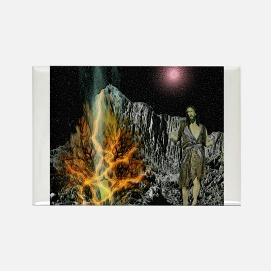 Moses And The Burning Bush Magnets