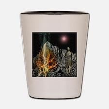 Moses And The Burning Bush Shot Glass