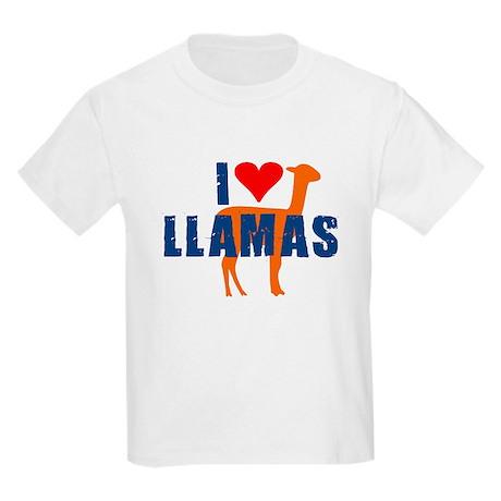 I LOVE LLAMAS SHIRT funny lla Kids Light T-Shirt