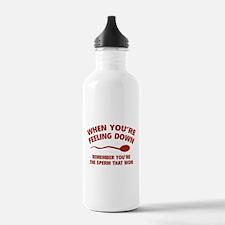 When You're Feeling Down Water Bottle