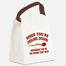 When You're Feeling Down Canvas Lunch Bag