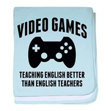 Video Games Teaching English baby blanket