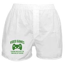Video Games Teaching English Boxer Shorts
