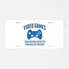 Video Games Teaching English Aluminum License Plat