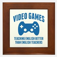 Video Games Teaching English Framed Tile