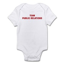 Team PUBLIC RELATIONS Infant Bodysuit