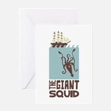 The Giant Squid Greeting Cards