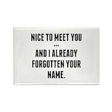 Nice To Meet You... Rectangle Magnet