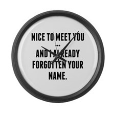 Nice To Meet You... Large Wall Clock