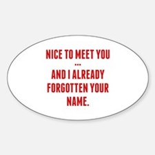 Nice To Meet You... Decal