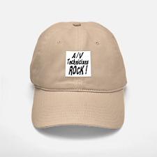 A/V Techs Rock ! Baseball Baseball Cap