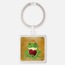 FROG PRINCE Square Keychain