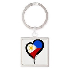Heart Nation 08 Square Keychain