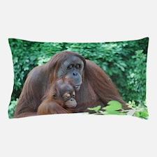 Orangutan Mom with a Baby Pillow Case