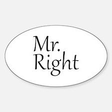 Mr. Right Sticker (Oval 10 pk)