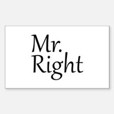 Mr. Right Decal