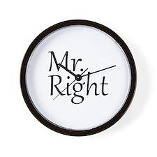 Mr. Right Wall Clock