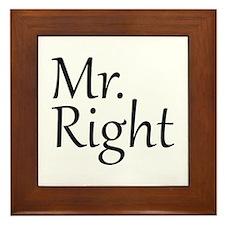 Mr. Right Framed Tile