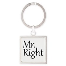 Mr. Right Square Keychain