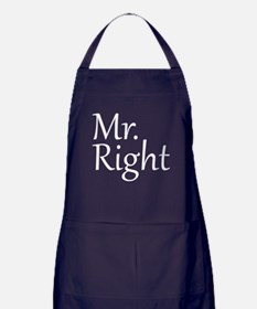 Mr. Right Apron (dark)
