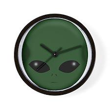 GREEN ALIEN Wall Clock