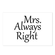 Mrs. Always Right Postcards (Package of 8)