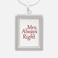 Mrs. Always Right Silver Portrait Necklace