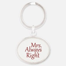 Mrs. Always Right Oval Keychain