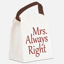 Mrs. Always Right Canvas Lunch Bag