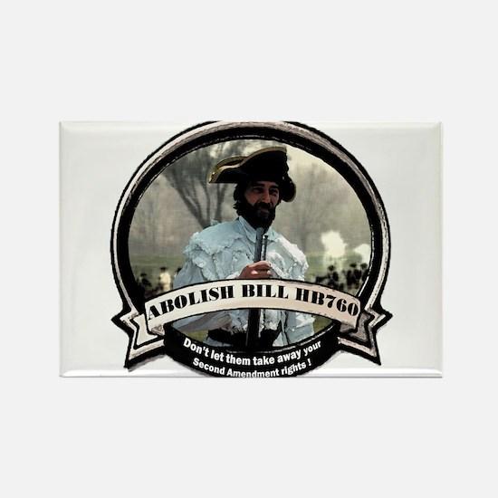 Abolish Pennsylvania anti gun Rectangle Magnet