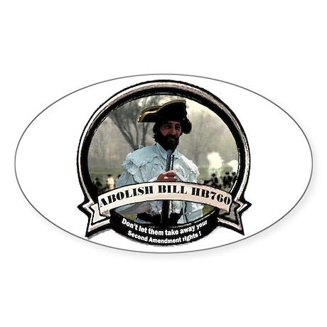 Abolish Pennsylvania anti gun Oval Sticker