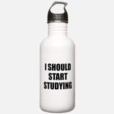 I Should Start Studying Water Bottle