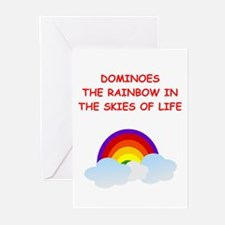 DOMINOES Greeting Cards