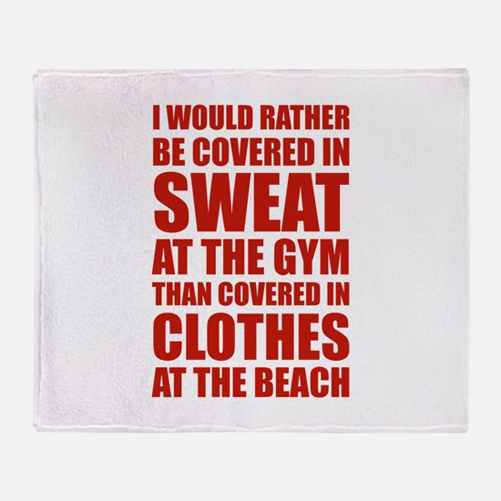 Covered In Sweat At The Gym Stadium Blanket