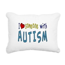 I love someone with Autism Rectangular Canvas Pill