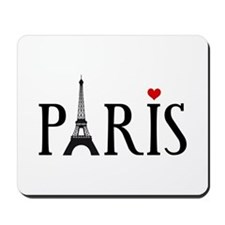 Paris with Eiffel tower, French word art Mousepad