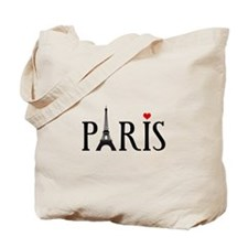 Paris with Eiffel tower, French word art Tote Bag