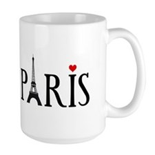 Paris with Eiffel tower, French word art Mugs