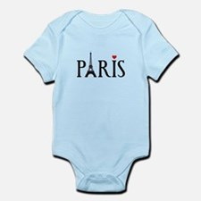 Paris with Eiffel tower, French word art Body Suit