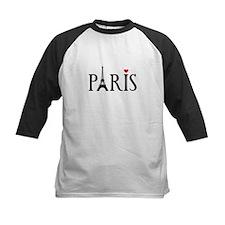 Paris with Eiffel tower, French word art Baseball