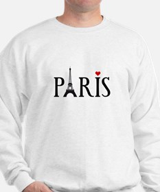 Paris with Eiffel tower, French word art Sweatshir