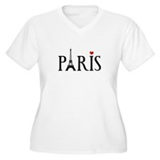 Paris with Eiffel tower, French word art Plus Size
