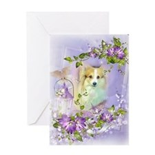 Beautiful Easter Corgi Dog Greeting Cards