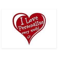 Personalize Love Heart Invitations