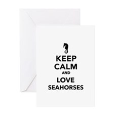 Keep calm and love seahorses Greeting Card