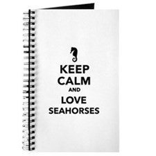 Keep calm and love seahorses Journal