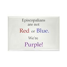Episco-Purple Rectangle Magnet
