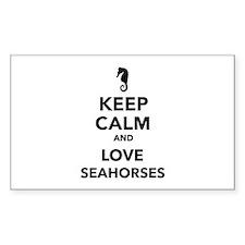 Keep calm and love seahorses Decal